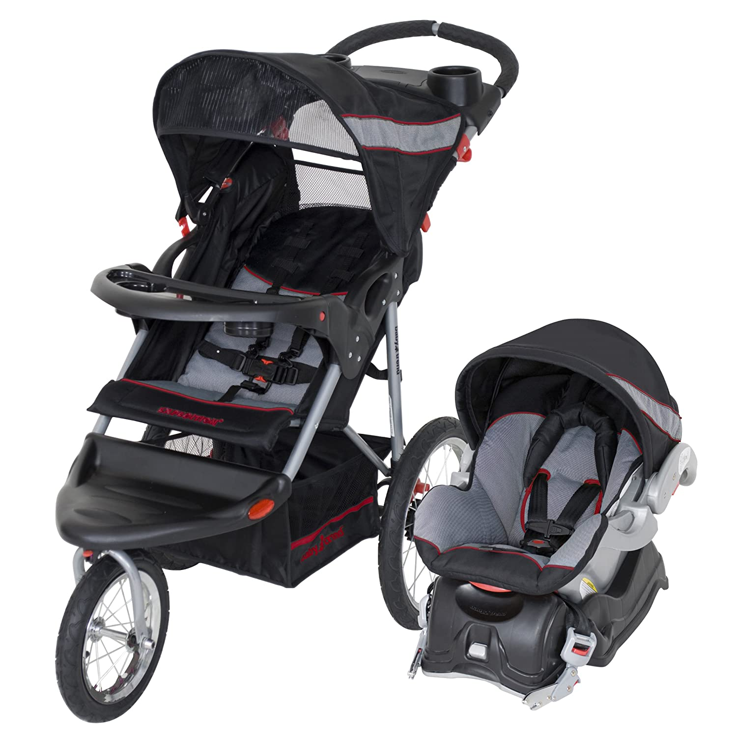 Amazon com baby trend expedition lx travel system millennium infant car seat stroller travel systems baby