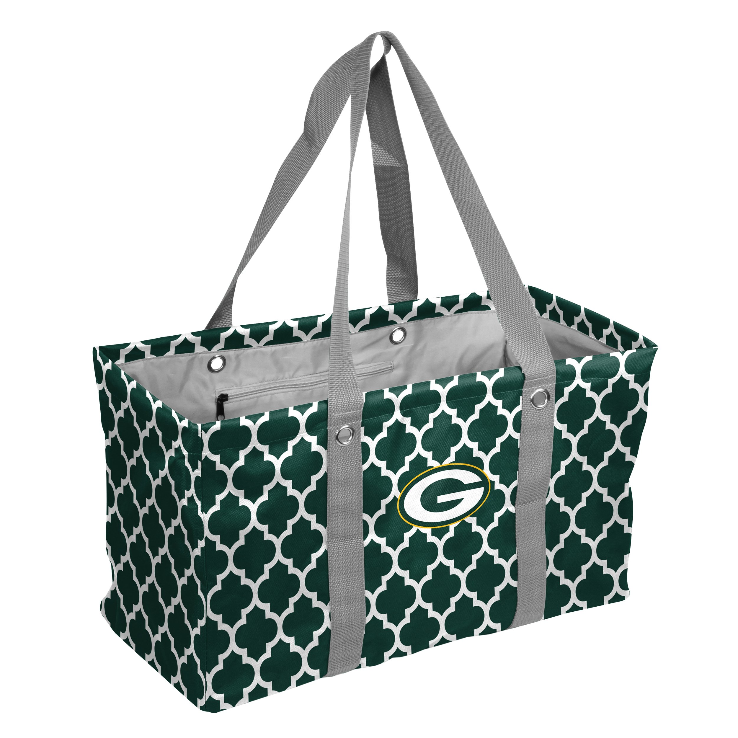 Logo Brands NFL Green Bay Packers Quatrefoil Picnic Caddy quatrefoil Picnic Caddy, Hunter, One Size