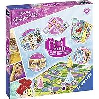 Ravensburguer-21287 Princesas Disney Set 6 Juegos en 1