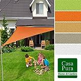 Voile d'ombrage casa pura® triangulaire en coloris divers   matière imperméable - lavable en machine   taille 5x5x7m   densité 160g par m²   sable