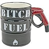 Fairly Odd Novelties Oil Drum B Fuel Gas Pump Handle 14oz Ceramic Coffee & Tea Mug Funny Phrase Novelty Cup, One Size, Black