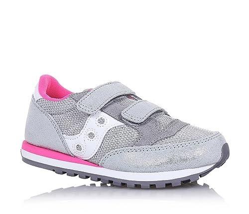 SAUCONY SC56278 JAZZ DBLE HL silver pink grigio scarpe bambina girls strappo  33.5 52a9f4418e6