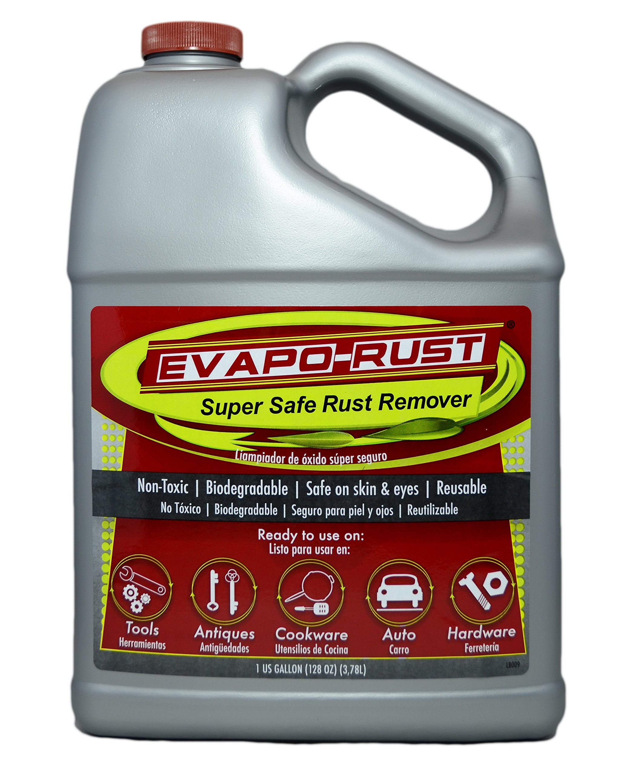 Evapo-Rust The Original Super Safe Rust Remover, contains no acids, non-toxic, biodegradable, and safe on skin - 1 Gallon by Evapo-Rust