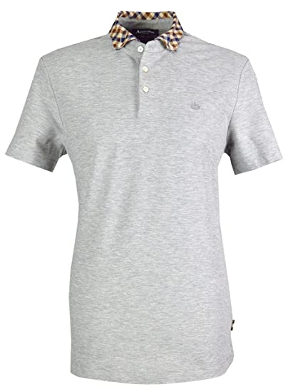 590c07711 Aquascutum Men`s Coniston Short Sleeves Polo Shirt - Grey: Amazon.co.uk:  Clothing