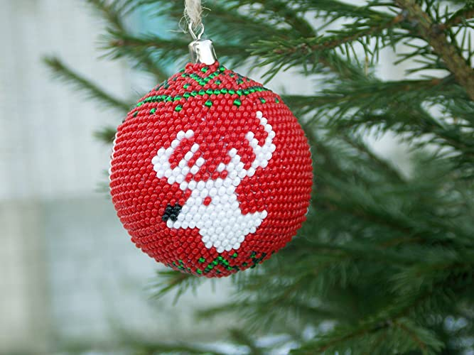 Rudolph Christmas Decorations.Amazon Com Handmade Christmas Gift Reindeer Ornament Santas