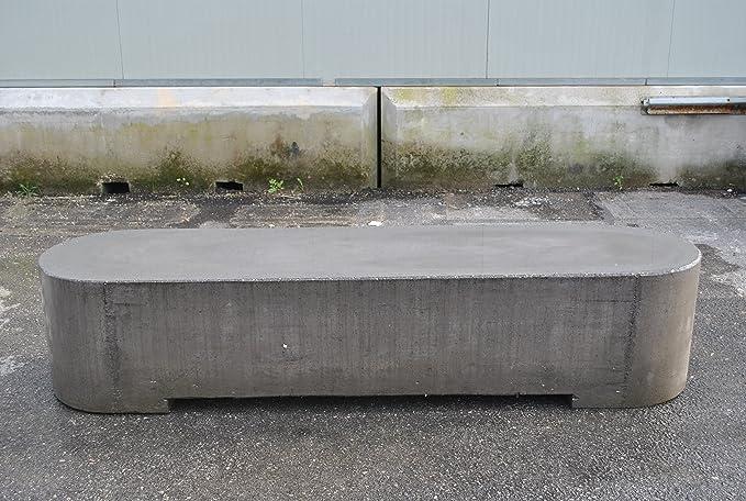 Banco de cemento con inserciones de piedra volcánica, 200 x 50 x 43 cm: Amazon.es: Jardín