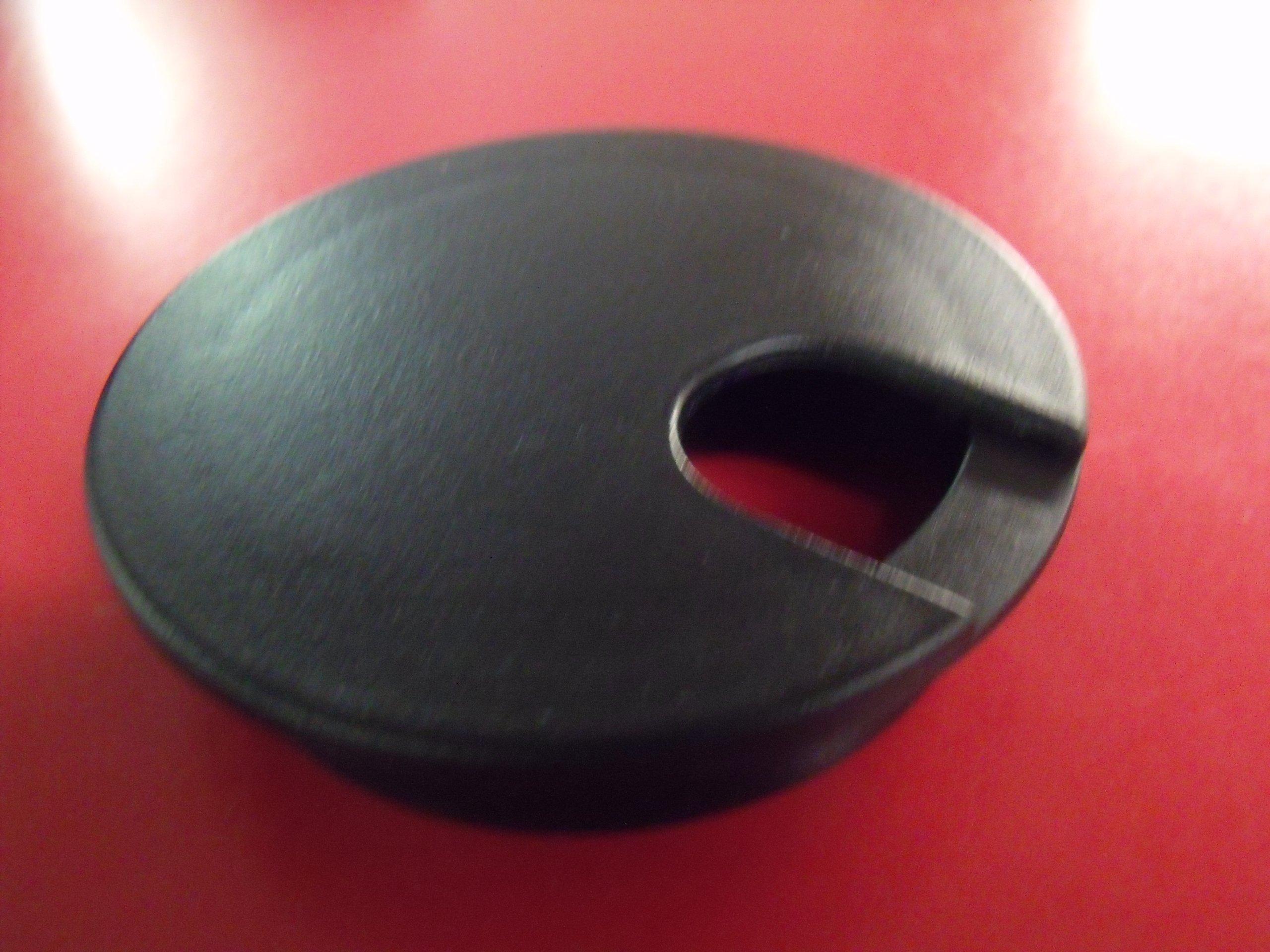 3'' Black Desk Grommet (5 Pack)