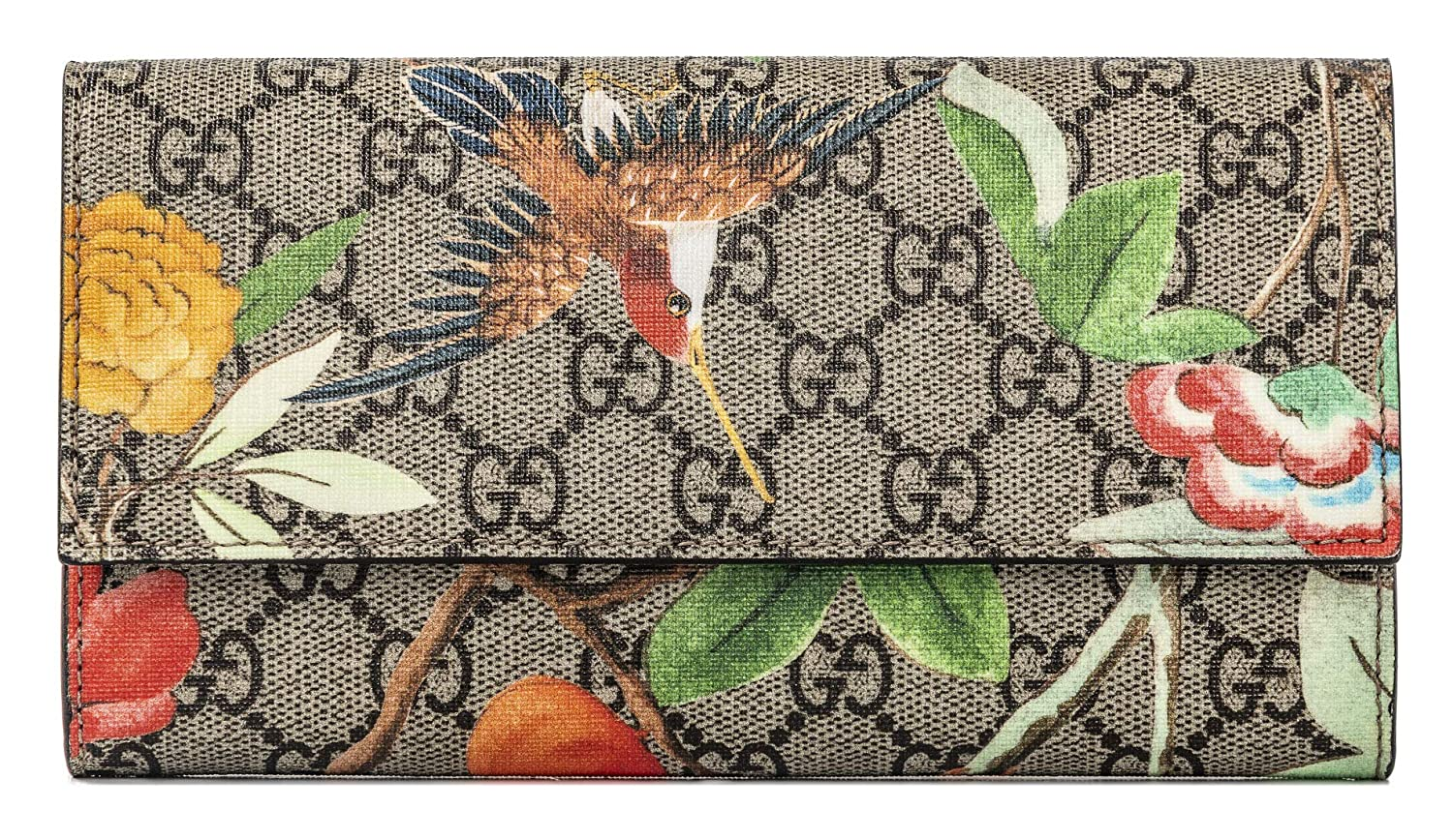 b19575ca94df2c Amazon.com: Gucci Bird Flower tian GG Wallet Leather Foldover Red interior  Wallet: Shoes