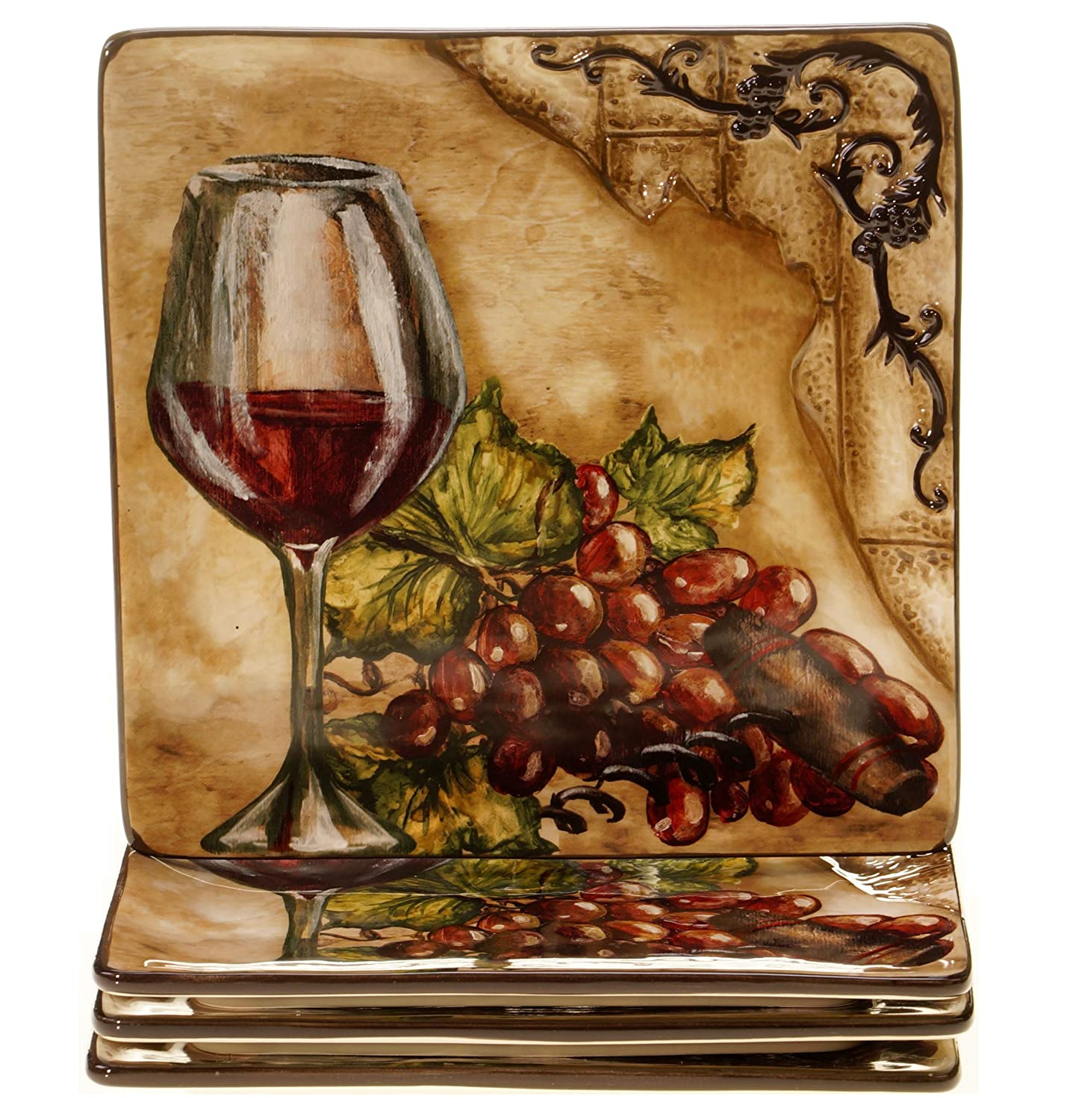 Certified International Tuscan View Salad Plate, 8.5-Inch, Set of 4