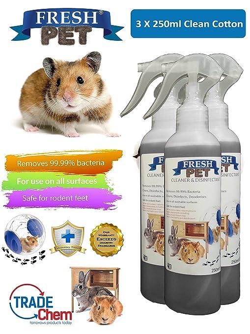 FRESH PET - Juego de 3 botes de 250 ml para desinfectante de ...