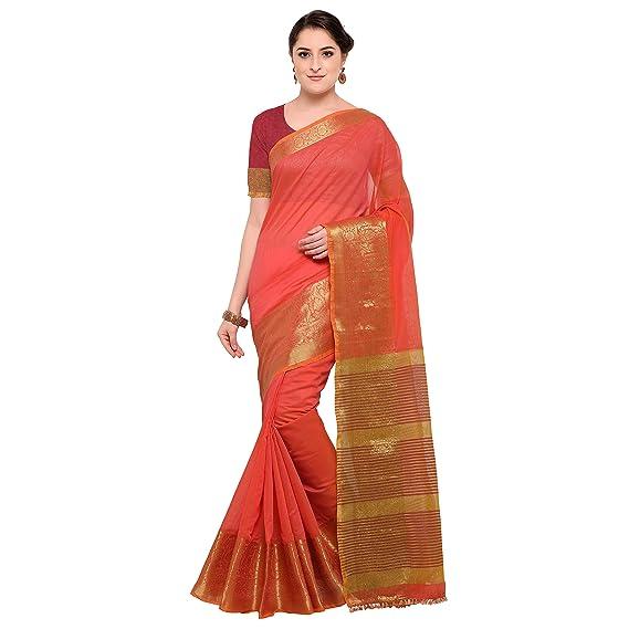 c228932d6f33fd Pisara Women s Chanderi Silk Saree with Blouse Piece