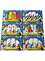 3 Packs Of 4 Childrens 100% Cotton Handkerchiefs Assorted Prints