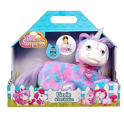 Amazon.com: Partido de 7 Unicorn Surprise Lizzie y sus Bebés ...
