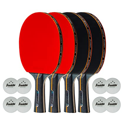 Franklin Sports Elite Pro Carbon Core Paddle - 4 Player Set, Sports ... 6033b0113a6f