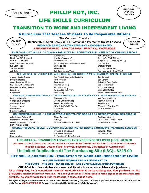 Amazon com: Life Skills Curriculum - Transition to Work and