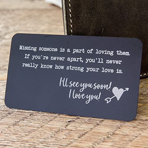 amazon com metal wallet card insert with engraved quote for missing