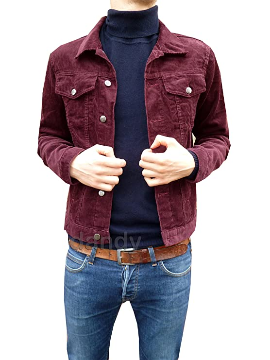 70s Jackets, Furs, Vests, Ponchos New Retro Vintage Mens Burgundy Cord Corduroy Western Mod Short Jacket 60s 70s £39.99 AT vintagedancer.com