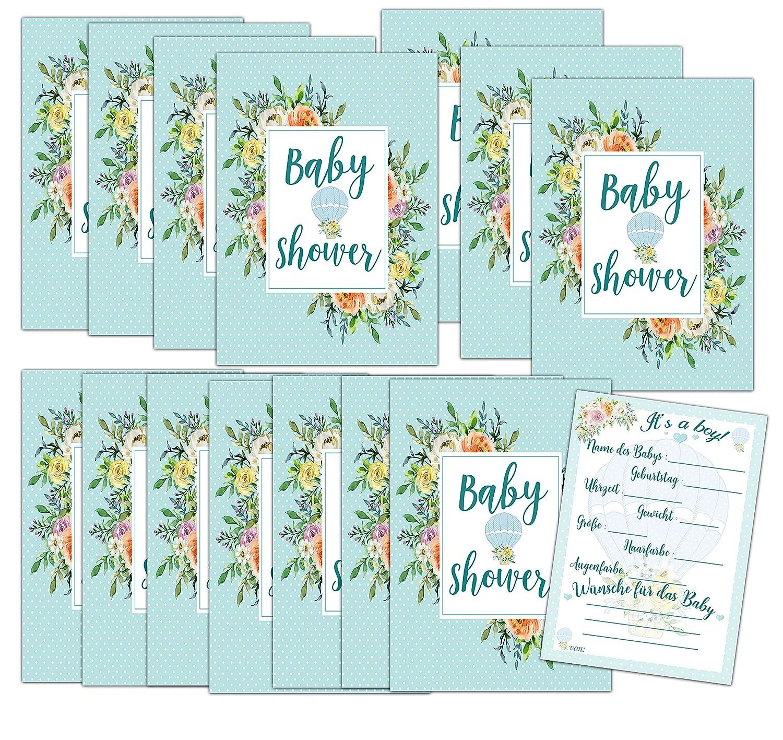 Geschenk Anstecker Bald Mama HWArt Babyshower Spiel Karten Babyparty M/ädchen Rosa Spielkarten x15 Rate mal Its a Girl