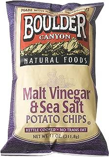 product image for Boulder Canyon Kettle Chips, Malt Vinegar & Sea Salt, 11-Ounce Bags (Pack of 9)