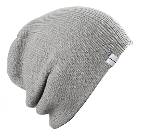 Highly Beanie Slouch Slouchy Beanie Soft Loose Beanie Hat Light Grey ... 14ef86fb3d5