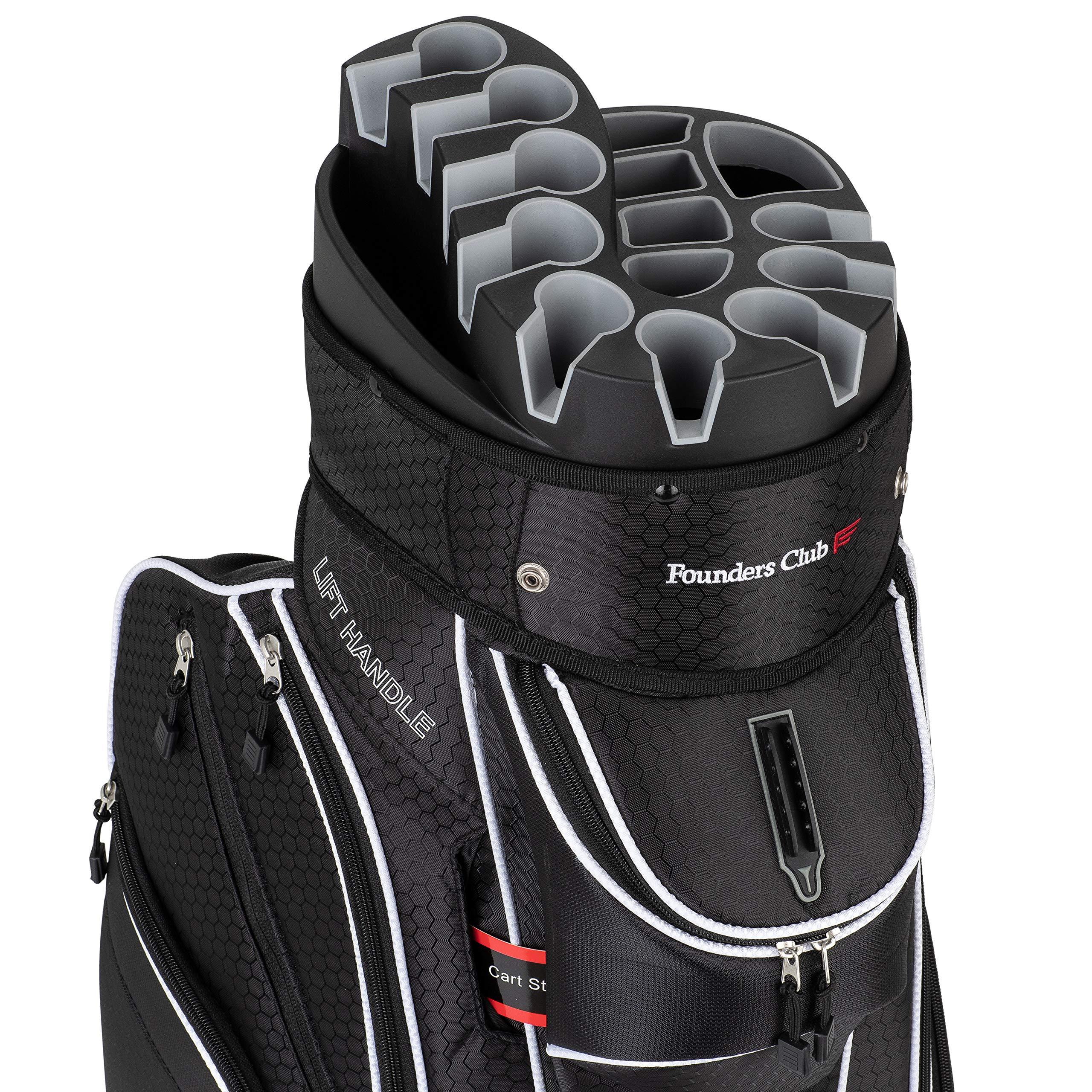 Founders Club Premium 14 Way Organizer Cart Bag (Black) by Founders Club