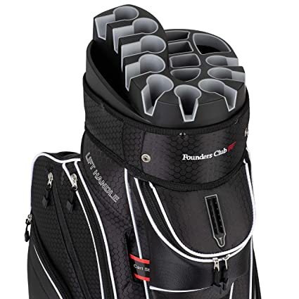 0a23aab6d63 Amazon.com : Founders Club Premium 14 Way Organizer Cart Bag (Black ...