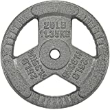 HulkFit 1-inch or 2-inch Iron Plate for Strength Training, Weightlifting and Crossfit, Single - Singles