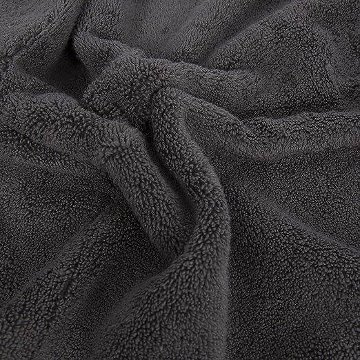 Gris 70x140 cm Don Algod/ón Toalla Ducha Zero Twist