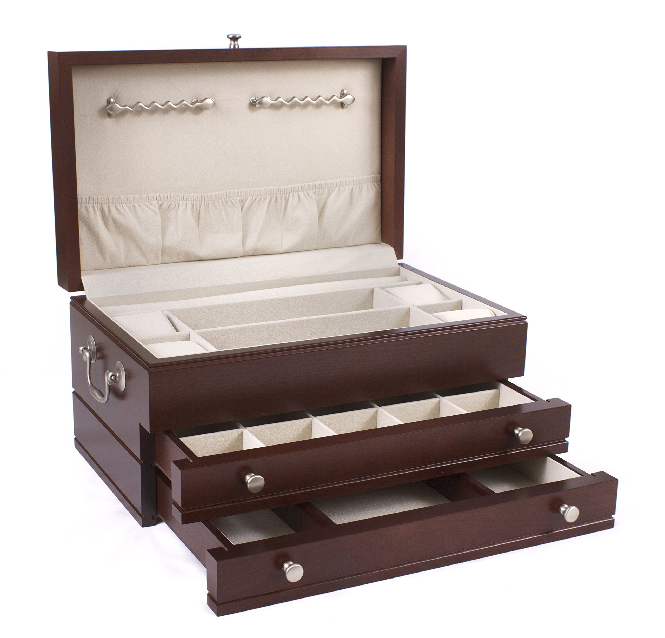 American Chest First Lady, 2-Drawer, Solid Cherry Jewelry Box; MADE in USA by American Chest