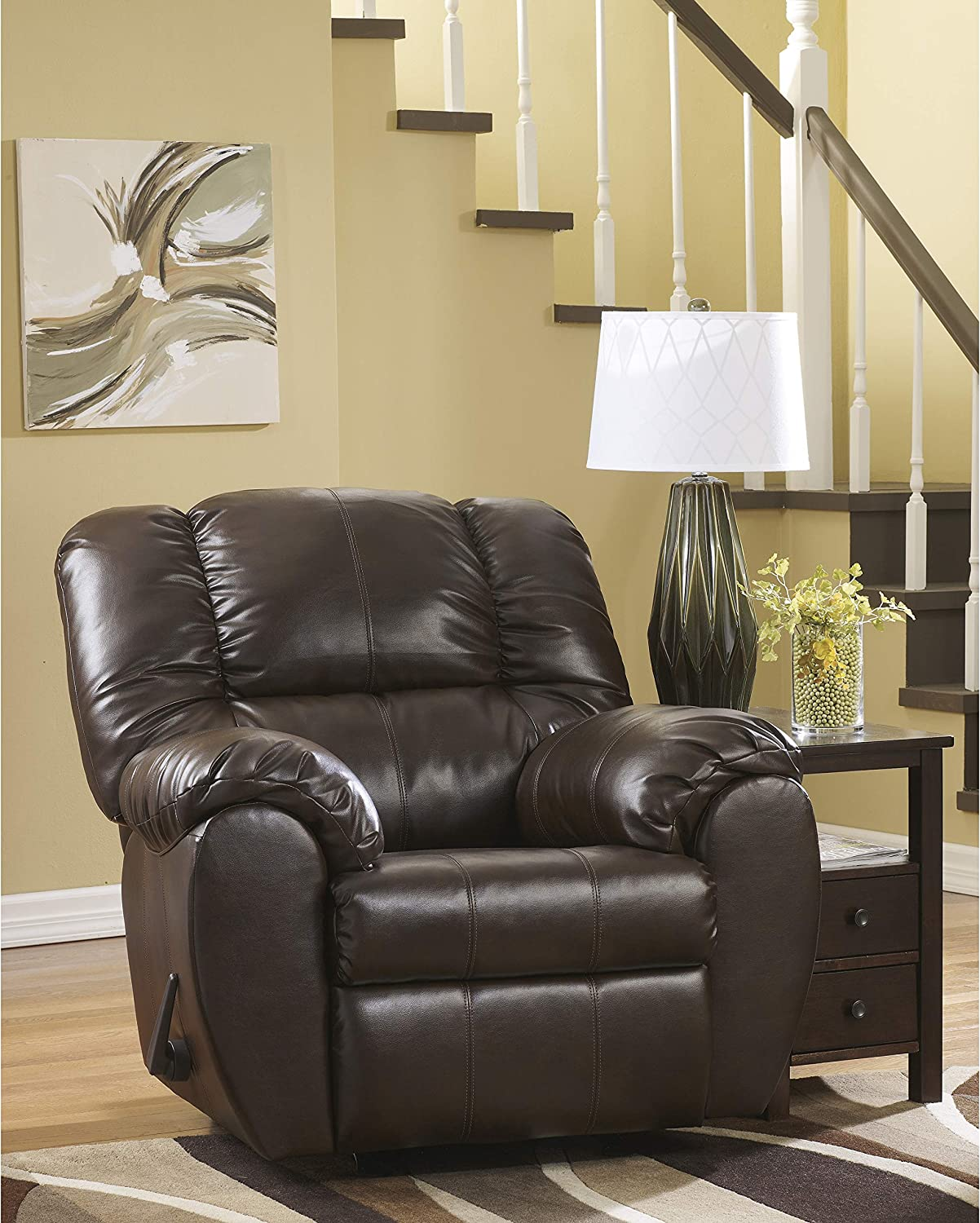 Flash Furniture Signature Design by Ashley Dylan DuraBlend Rocker Recliner in Espresso DuraBlend