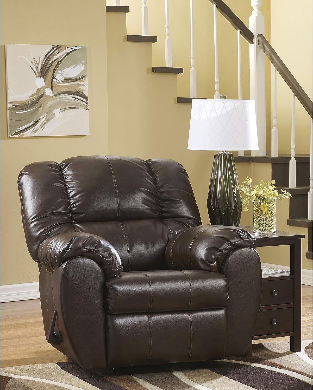 Flash Furniture Signature Design by Ashley Dylan DuraBlend Rocker Recliner in Espresso DuraBlend
