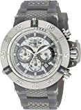 Invicta Men's 'Subaqua' Quartz Stainless Steel and Silicone Casual Watch, Color:Grey (Model: 24367)