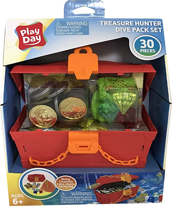 Review Play Day Treasure Hunter 30-Piece Under Water Swimming Pool Dive Set