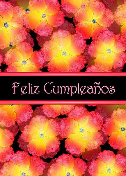 amazon com feliz cumpleanos orange flowers spanish birthday