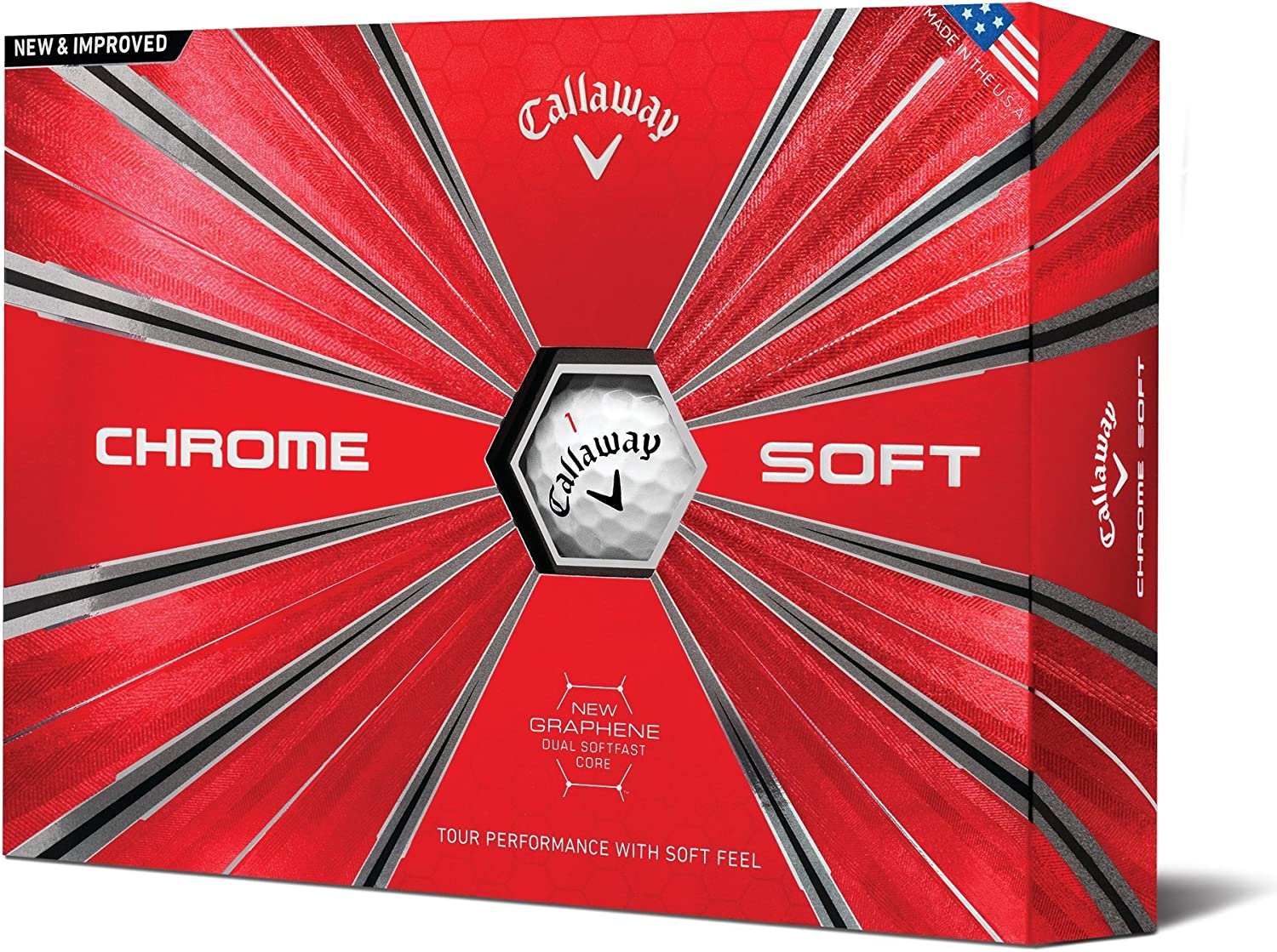 Callaway Golf Chrome Soft Golf Balls, (One Dozen), Prior Generation