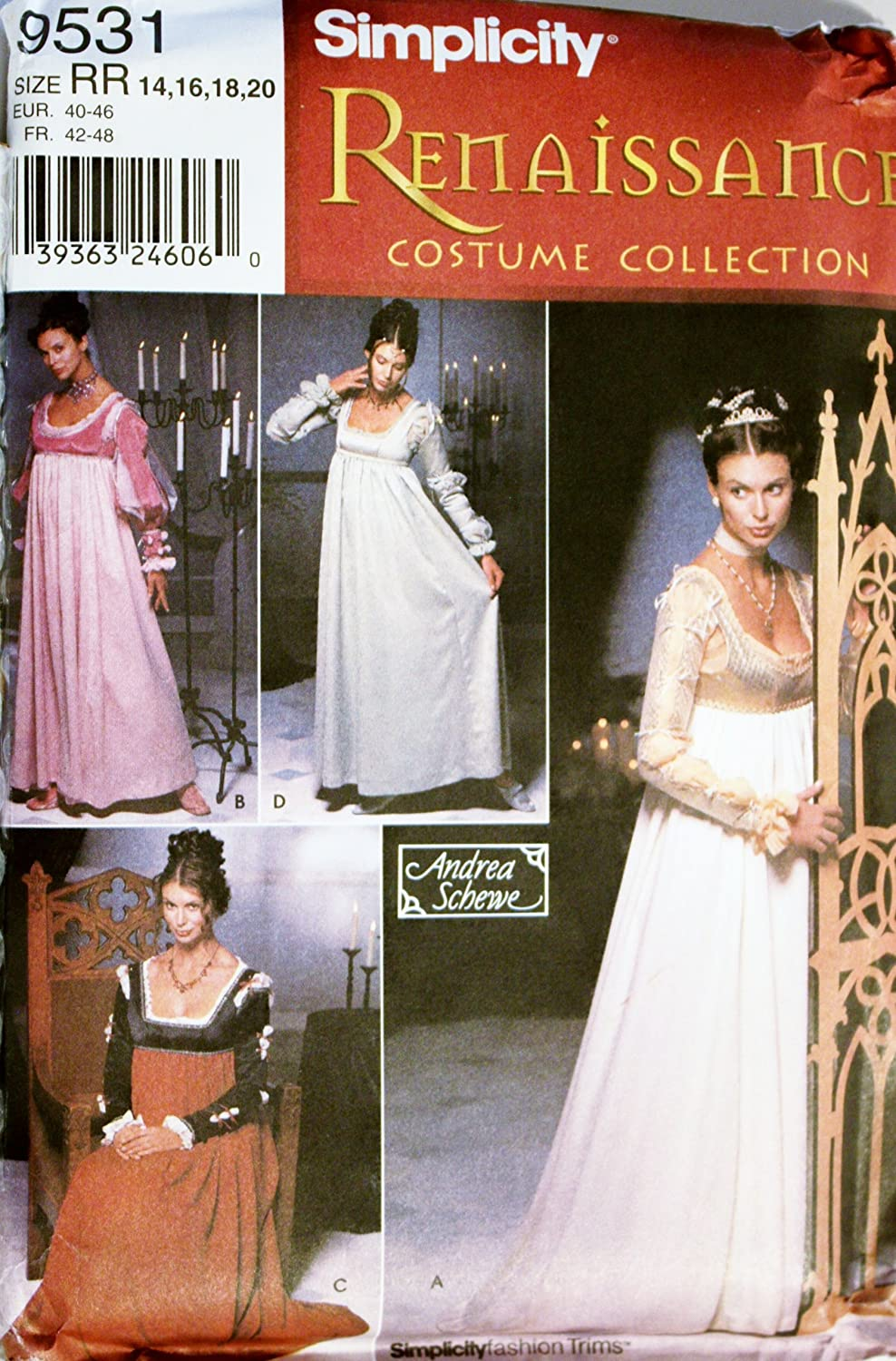 21ab77841e3 Amazon.com  SIMPLICITY PATTERN 9531 RENAISSANCE COSTUME COLLECTION SIZE RR  14-20  Home   Kitchen