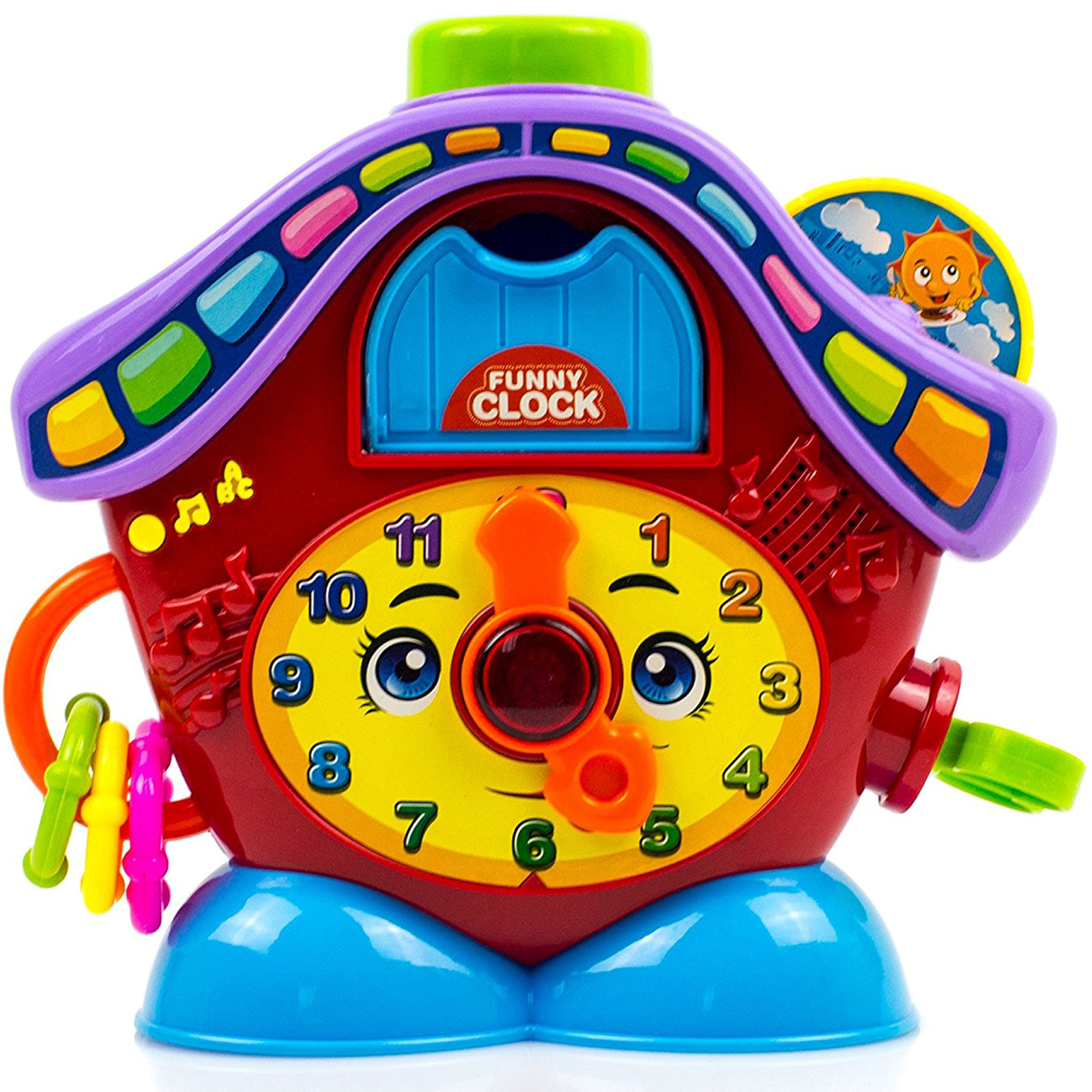Toysery Clock Toys for Kids - Early Educational Toy for Toddler, Babies - Great Gift Idea