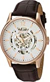 Invicta Men's 'Objet D Art' Automatic Stainless Steel and Leather Casual Watch, Color:Brown (Model: 22596)