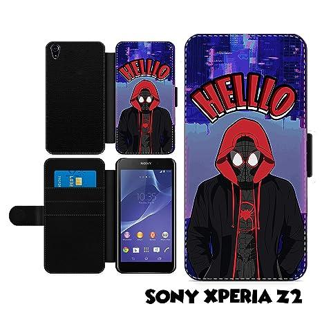 Amazon.com: Spiderman Spiderverse - Funda de piel sintética ...