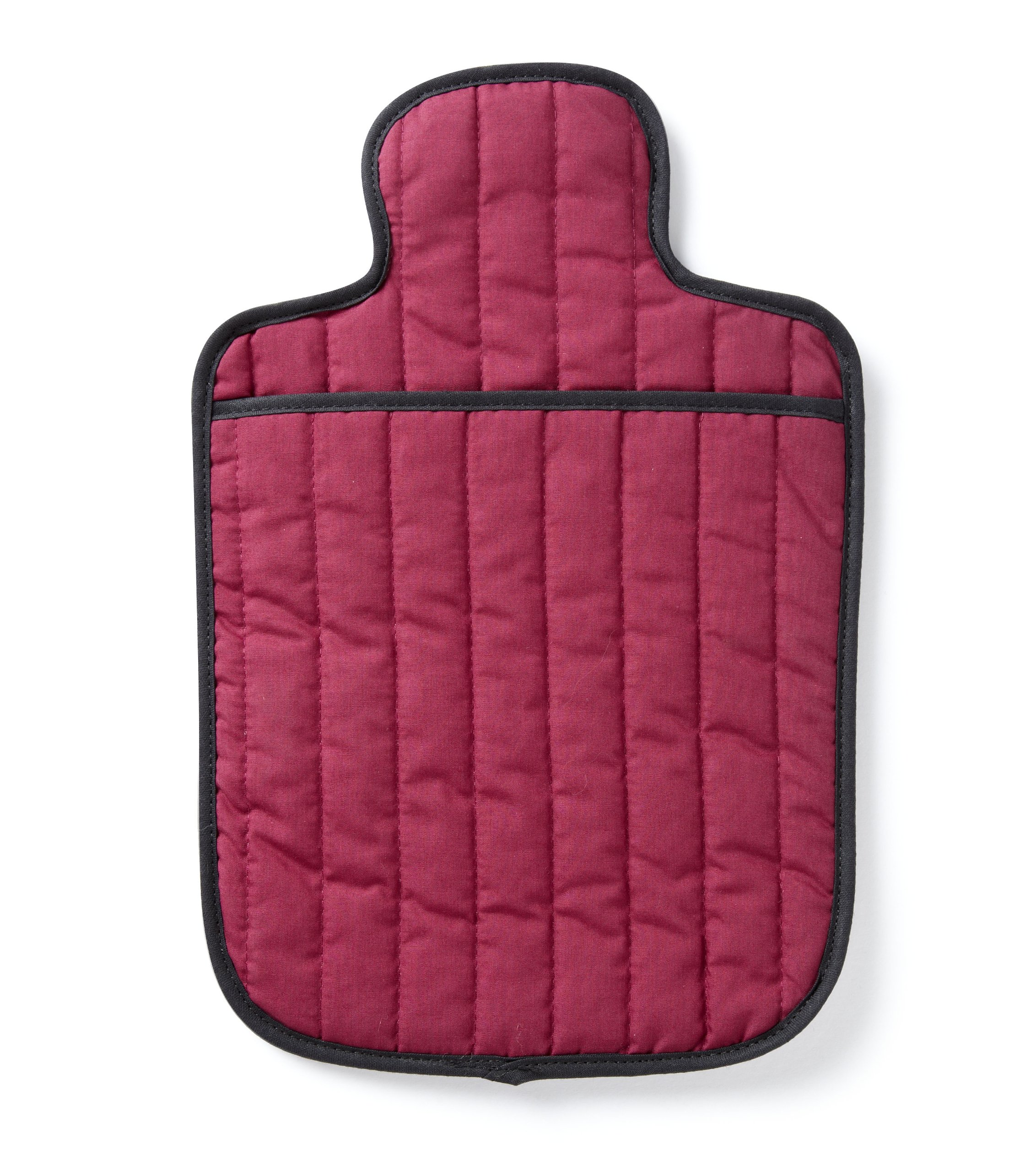 Hotties Burgundy Quilted Microwavable Hot Water Bottle by Healthcenter