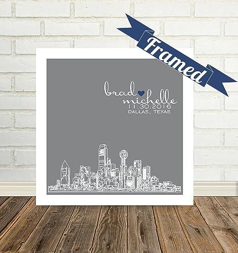 Amazon Dallas Skyline Wedding Gift Personalized Dallas Texas