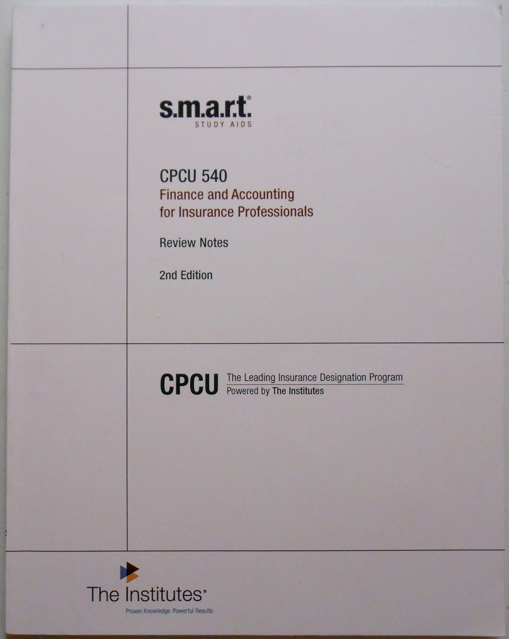 CPCU 540 Finance and Accounting for Insurance Professionals