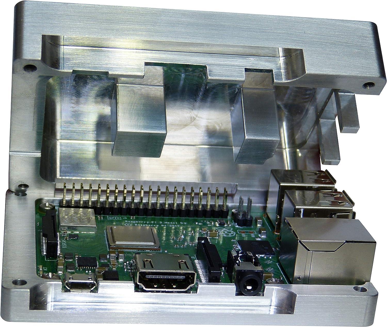 Raspberry Pi 3 Carcasa de aluminio integrado CPU refrigeración ...