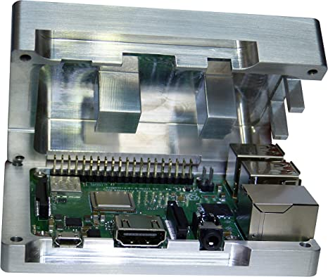 Raspberry Pi 3 Carcasa de aluminio integrado CPU refrigeración pasiva No requiere Ventilador pasivo Disipador ...