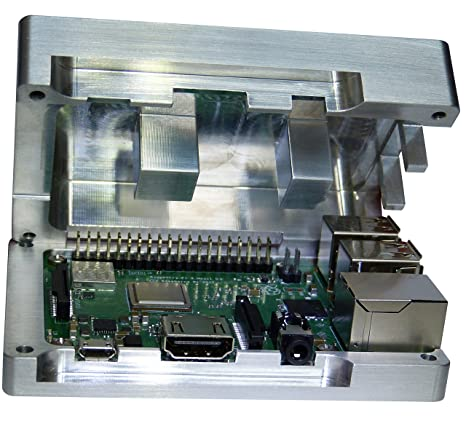Raspberry Pi 3 Carcasa de aluminio integrado CPU refrigeración pasiva No requiere Ventilador pasivo Disipador Enfriador rasbe rrypi pasivo enfriador ...