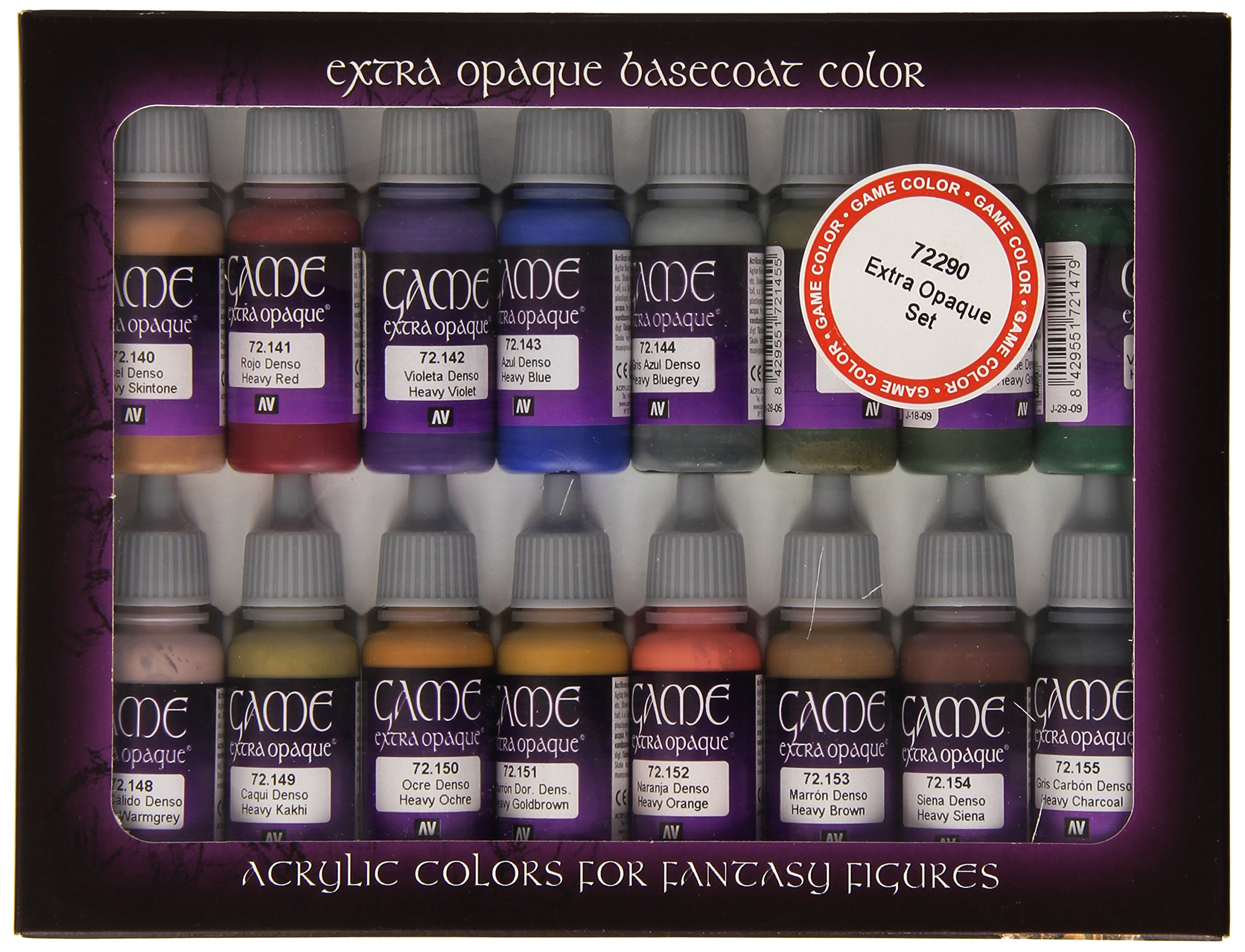 Vallejo Extra Opaque Paint Set Paint