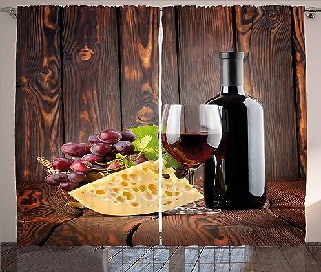 Amazon.com: Cortinas By ambesonne, Rojo Vino Cabernet ...