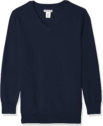Amazon Essentials Boys' Uniform V-Neck Sweater Niños