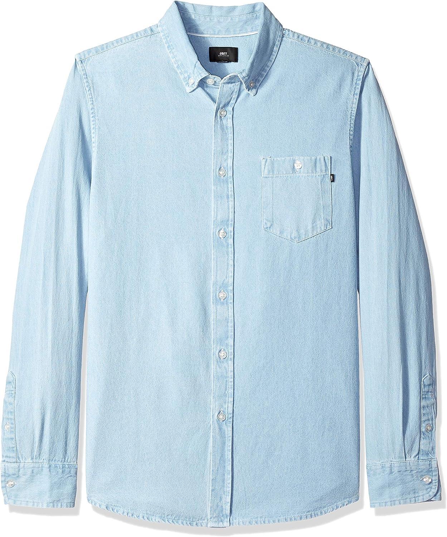Obey Mens Holden Woven Long Sleeve Shirt