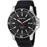 Wenger Men's 0641.102 Sea Force 3H Analog Display Swiss Quartz Black Watch